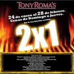 Ofertas de Tony Romas, Cenas 2x1