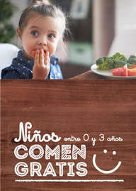 Niños comen gratis