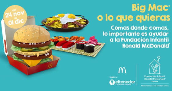 Ofertas de McDonald's, Big Mac o lo que quieras