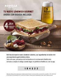 Tu nuevo sándwich gourmet ahora con bebida incluida