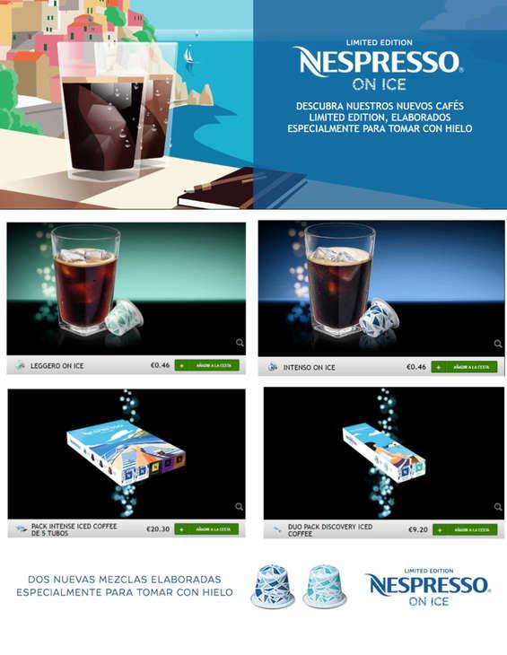 Ofertas de Nespresso, Nespresso on ice