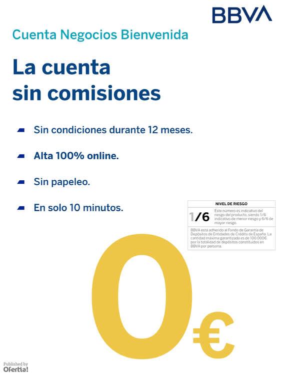 Ofertas de Catalunya Caixa, Cuenta negocios bienvenida