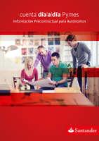 Ofertas de Santander, Información precontractual para Autónomos