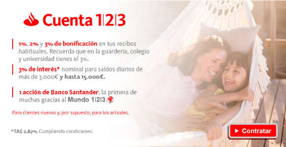 Ofertas de Santander, Cuenta 1 2 3