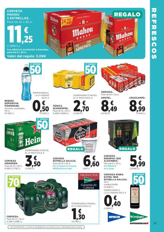 Ofertas de Hipercor, 2a unidad -50%