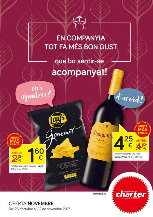 Ofertas de Supermercados Charter, En companyia tot fa més bon gust