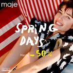 Ofertas de Maje, Spring Days. Hasta -50%