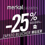 Ofertas de Merkal, -25% blucher mujer
