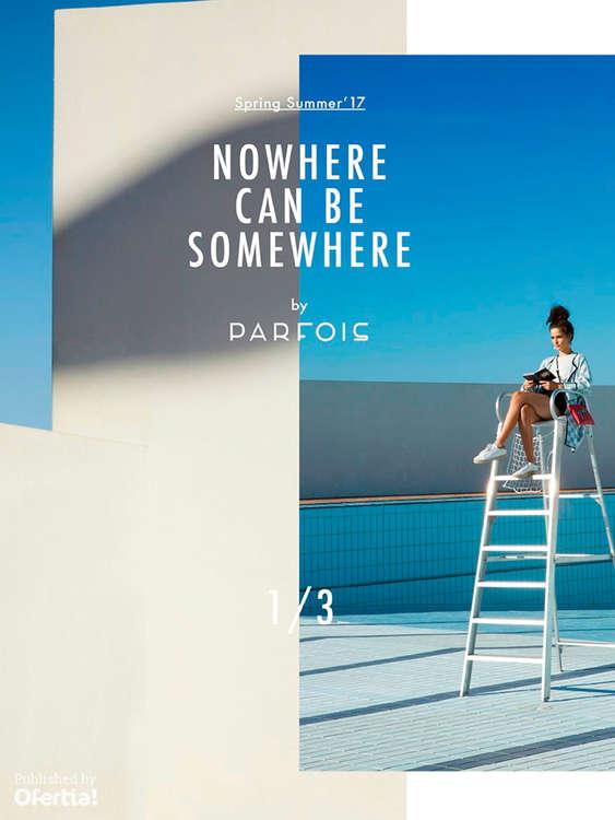 Ofertas de Parfois, Nowhere can be somewhere