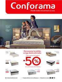 Descuentos hasta el 50% en colchones y dormitorios