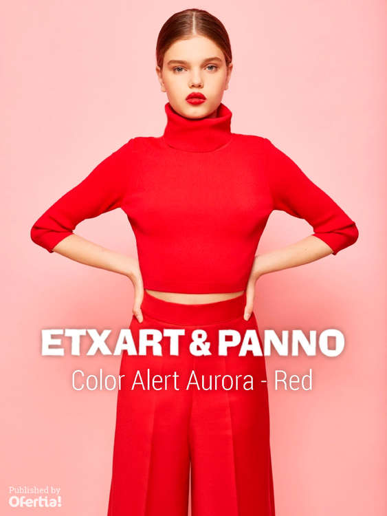 Ofertas de Etxart&Panno, Color Alert Aurora - Red