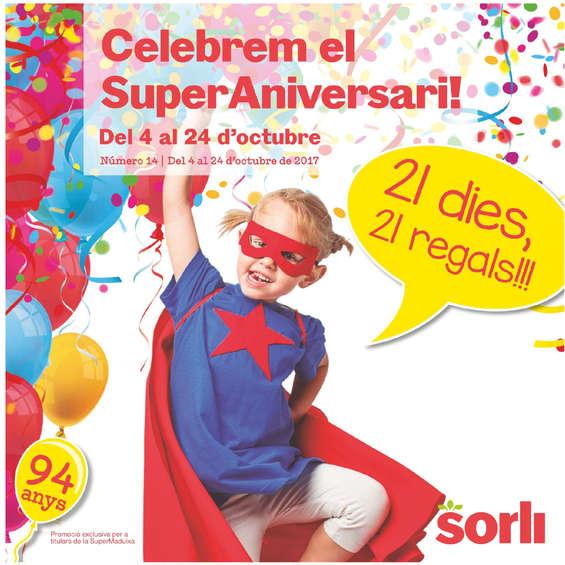 Ofertas de Sorli, Celebrem el super aniversari!
