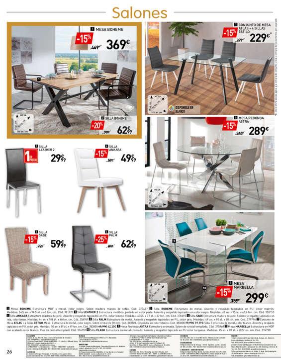 Comprar Conjunto mesa y sillas comedor barato en Pozuelo de Alarcón ...