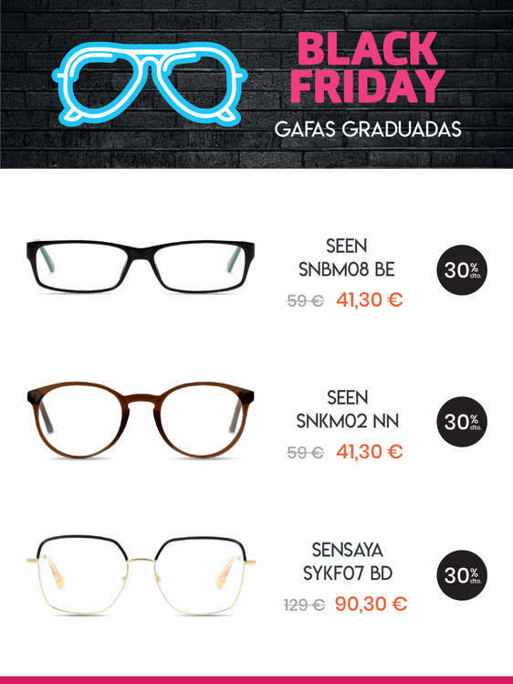 Ofertas de +VISIÓN, Black Friday -30% en todo