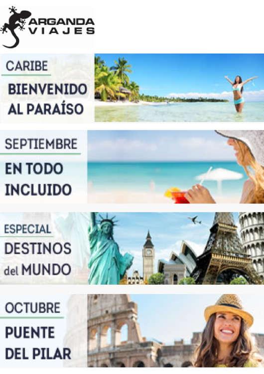 Ofertas de Arganda Viajes, Vacaciones para todo