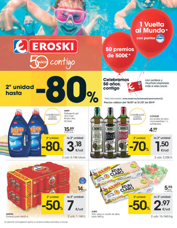Ofertas de Eroski, - 2a unidad hasta el -80% -