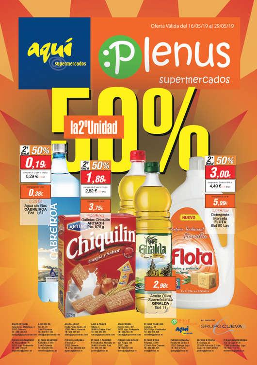 Ofertas de Plenus Supermercados, 50% en la 2a unidad