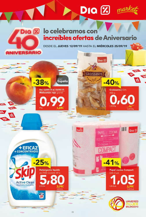 Ofertas de Dia Market, 40 aniversario