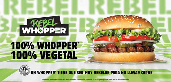 Ofertas de Burger King, Rebel whopper