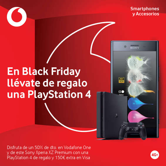 Ofertas de Vodafone, En Black Friday llévate de regalo una Playstation 4