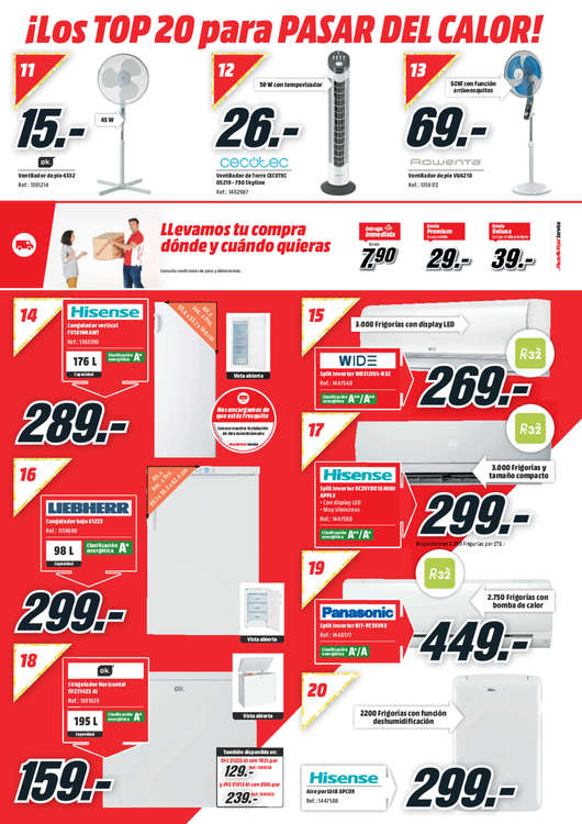 Ofertas de Media Markt, Top 20