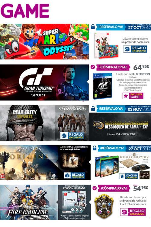 Ofertas de GAME, Novedades