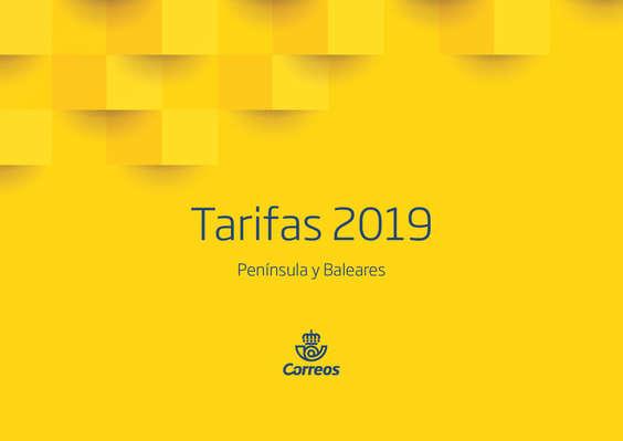 Ofertas de Correos, Tarifas_2019