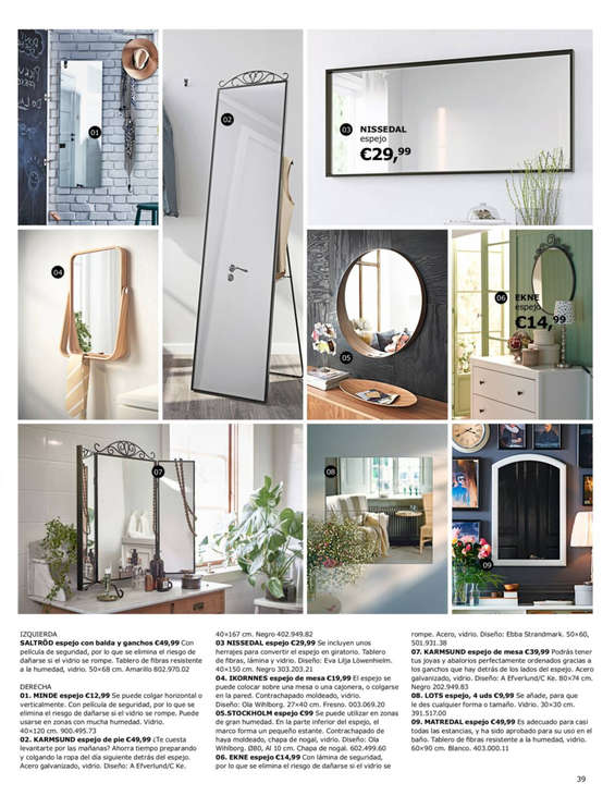 Ikea espejos ofertas y cat logos destacados ofertia - Ikea sevilla ofertas ...