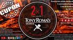Ofertas de Tony Romas, 2x1 en cenas