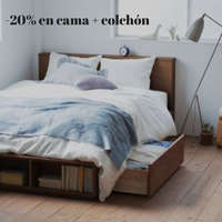 -20% de descuento en cama + colchón