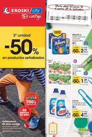- 2ª unidad -50% en los productos señalizados -