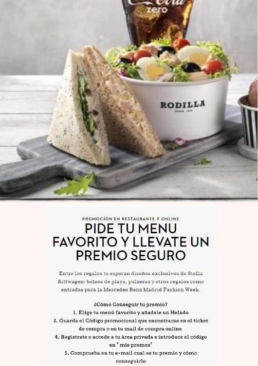 Ofertas de Rodilla, Pide tu menú y llévate un premio seguro