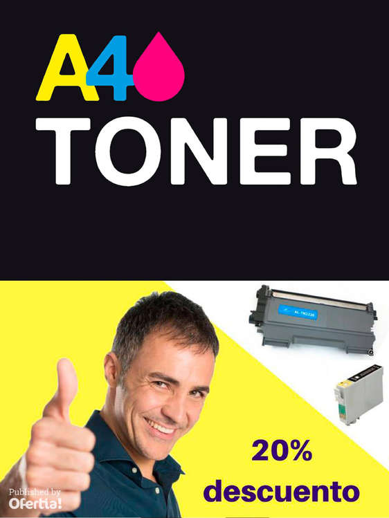Ofertas de A4toner, 20% de descuento