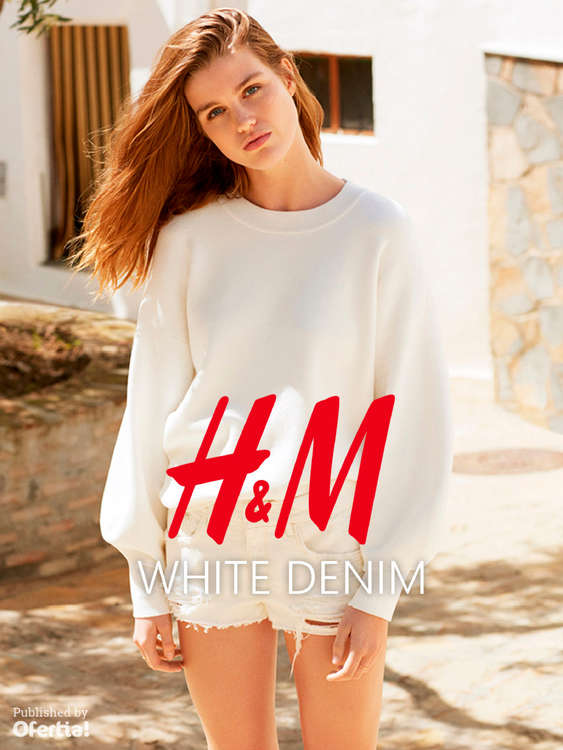 Ofertas de H&M, White Denim