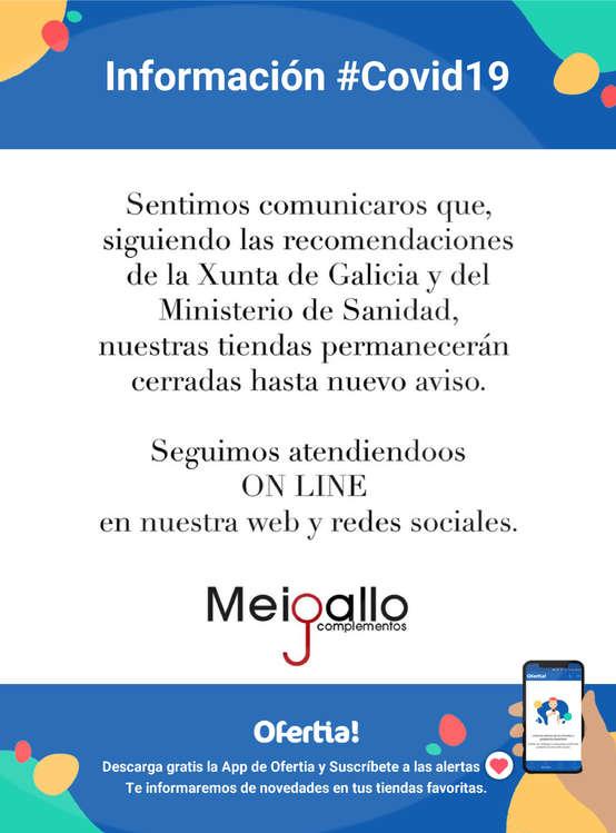 Ofertas de Meigallo, Información Meigallo #Covid19