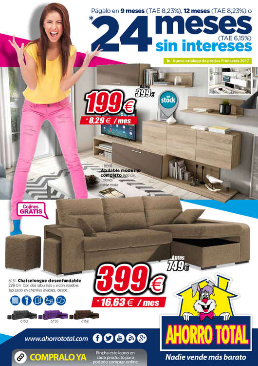 Ahorro total zaragoza ofertas cat logo y folletos ofertia for Muebles ahorro total murcia