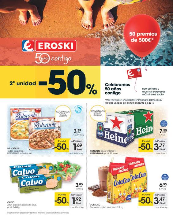 Ofertas de Eroski, - 2ª unidad - 50% -