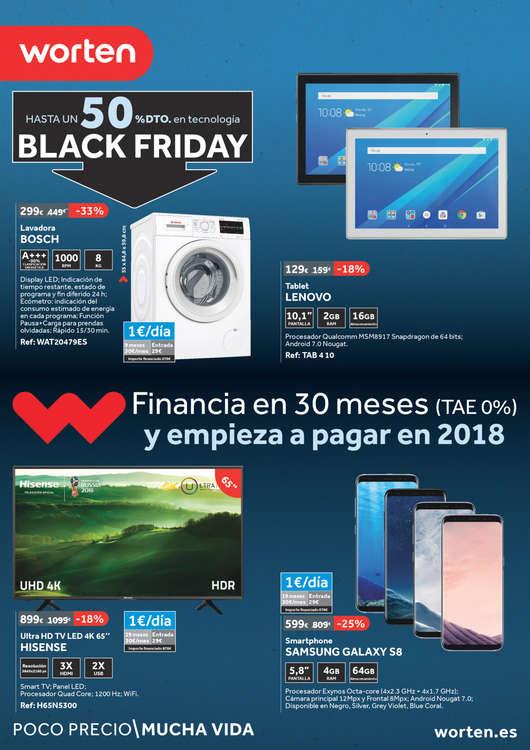 Ofertas de Worten, Hasta un 50% en tecnología - Black Friday