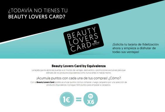 Ofertas de Equivalenza, ¿Todavía no tienes tu Beauty Lovers Card?