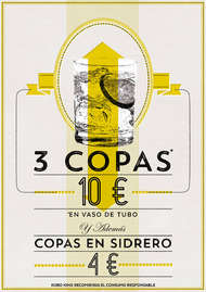 3 copas 10 €