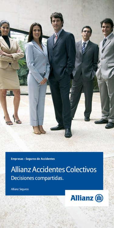 Ofertas de Allianz, Allianz accidentes colectivos