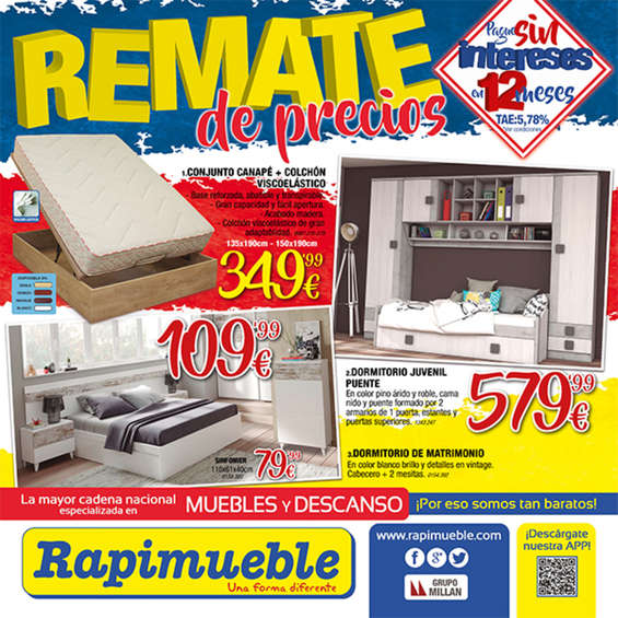 Rapimueble ofertas cat logo y folletos ofertia for Muebles rapimueble