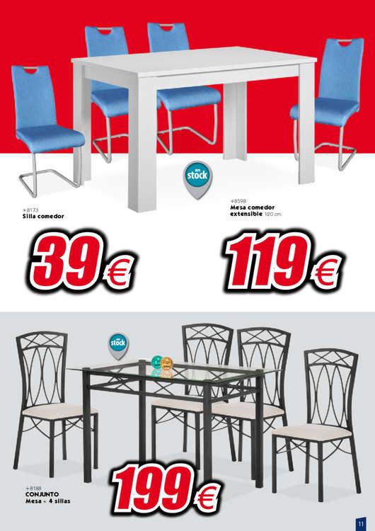 Comprar Conjunto mesa y sillas comedor barato en Pozoblanco - Ofertia