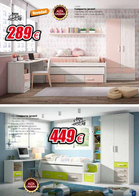 Comprar dormitorio juvenil barato en ciudad real ofertia - Muebles baratos en ciudad real ...