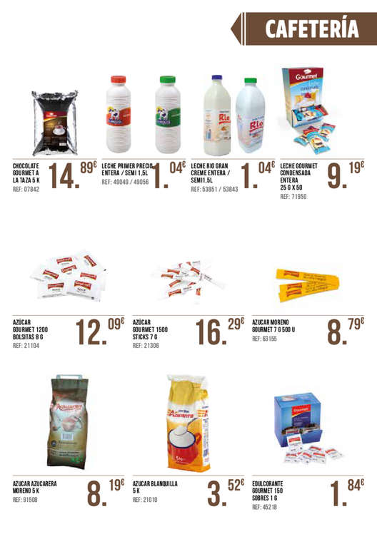 Ofertas de GM Cash & Carry, Básicos de Hostelería