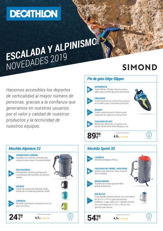 Ofertas de Decathlon, Escalada y alpinismo. Novedades 2019