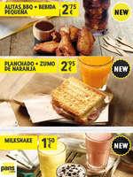 Ofertas de Pans & Company, Promos