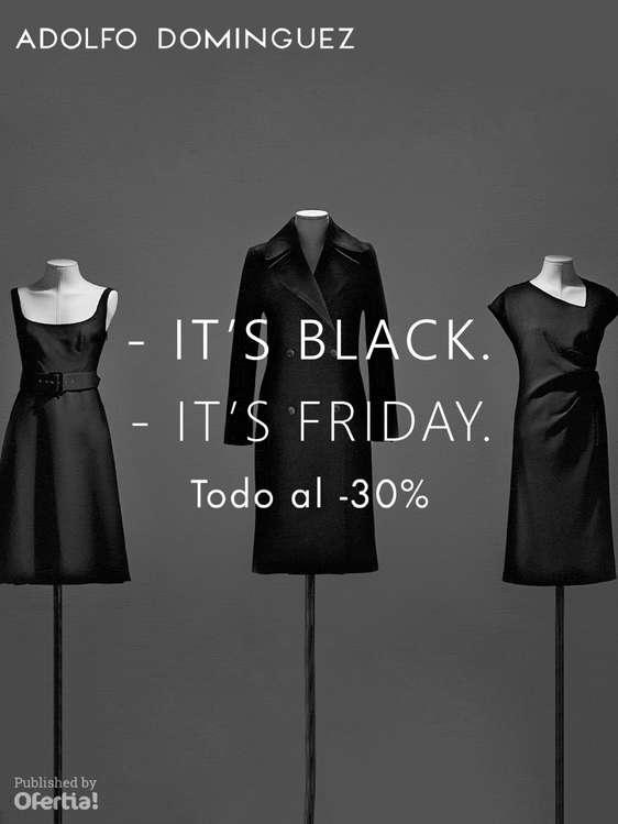 Ofertas de Adolfo Domínguez, It's Black. It's Friday. Todo al -30%