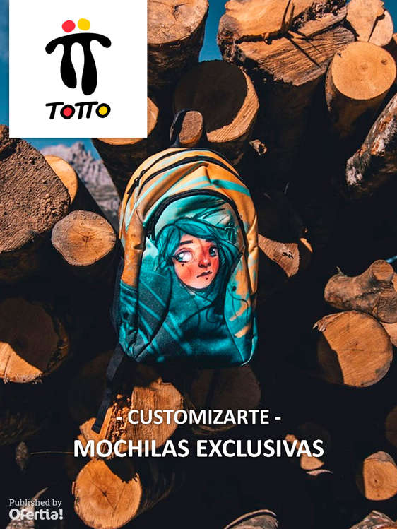 Ofertas de Totto, Customizarte - Mochilas Exclusiva