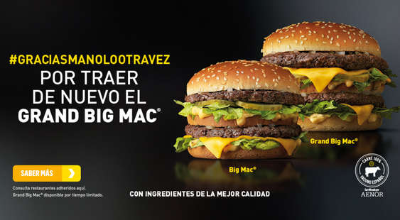 Ofertas de McDonald's, #graciasmanolootravez
